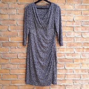 Ralph Lauren Geo Print 3/4 Sleeves Dress